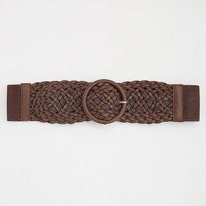 NWT Torrid Chocolate Braided Stretch Waist Belt